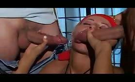 Stella Foliero, bendata e inculata in orgia porno